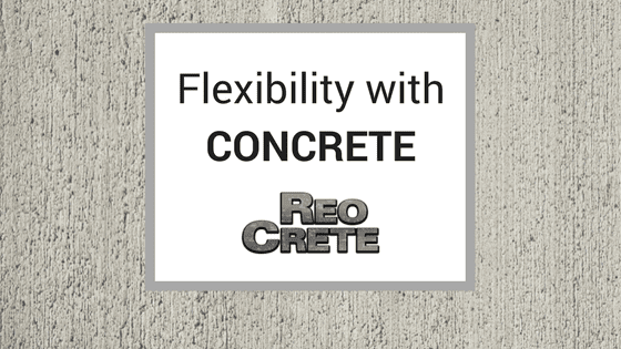 flexibility with concrete